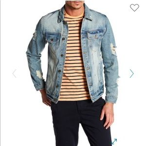 NWT Distressed Denim Jacket